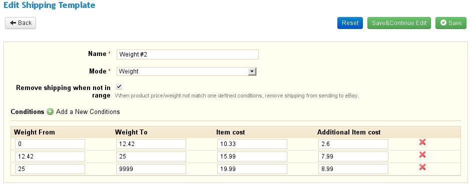 PrestaBay PrestaShop eBay IntegrationShipping Template Create New – Shipping Template