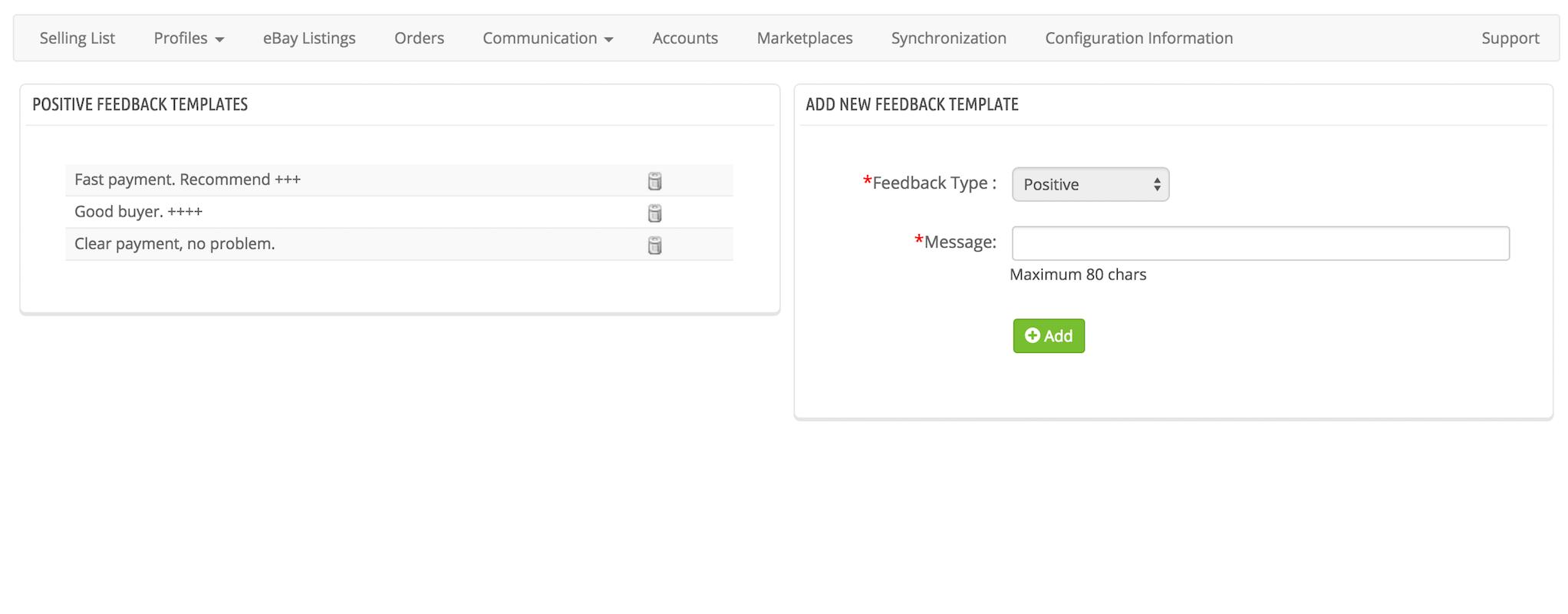 Prestabay prestashop ebay integration prestabay new for Ebay feedback request template