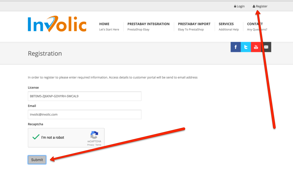How to Register at involic.com